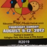 Folk Festival ticket