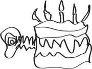 GigCity Edmonton Birthday Cake