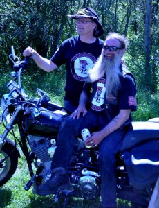 Carson Cole and Biker Joe - photo by Nicola Prochinsky