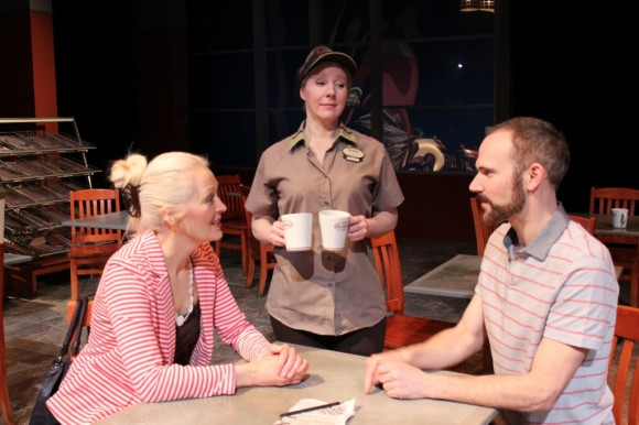From left: Linda Grass, Liana Shannon and Jon Paterson in Double Double