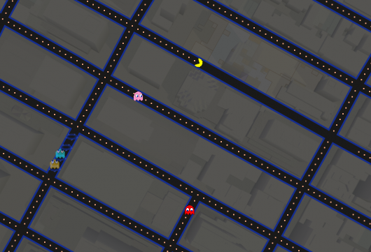 Pac-Man Google Map GigCity Edmonton