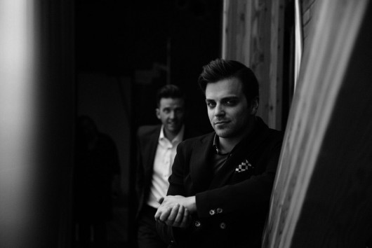 Andrew MacDonald Smith, left, and Mathew Hulshof at the Varscona gala