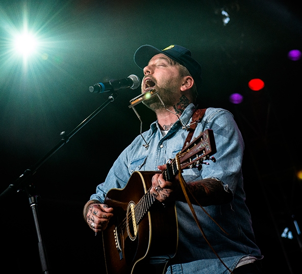 Dallas Green of City and Colour - one of three guys named Dallas on the bill at Fire Aid